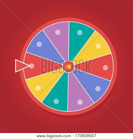 Wheel of fortune vector illustration eps 10