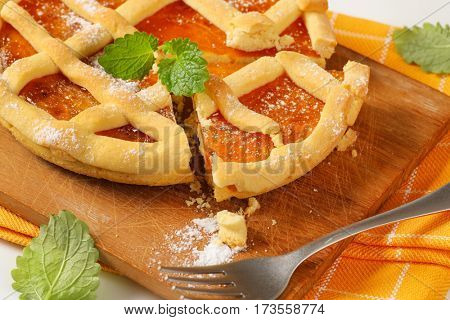Crostata with marmalade or apricot jam filling poster