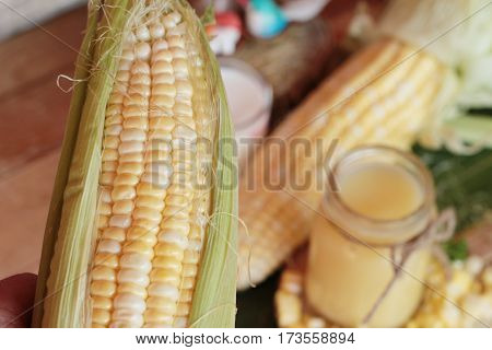 Corn milk for health and fresh corn
