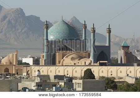 Imam Mosque on Meydan-e Imam, Isfahan, Iran, Asia