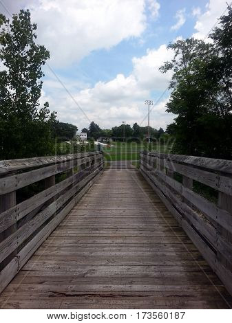 Wooden Bridge over a stream Pandora Ohio