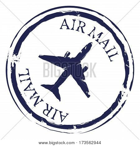 Vector Postal Stamp. Air Mail.