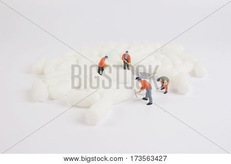 The Figure Of Woker Cleaning