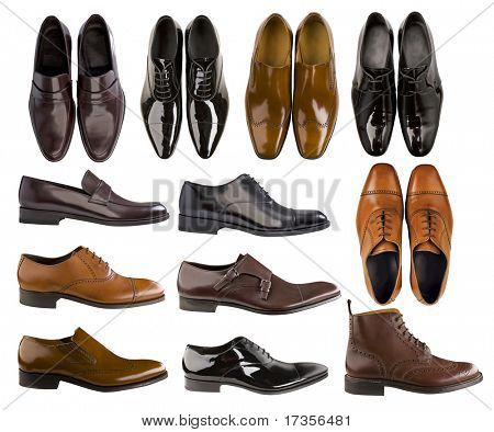 collection of men footwear