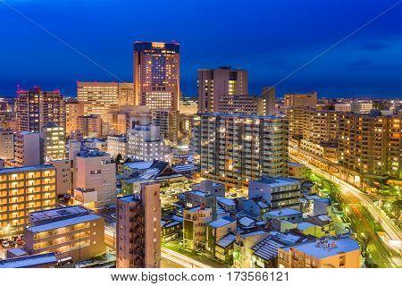 Kanazawa, Japan downtown city skyline.