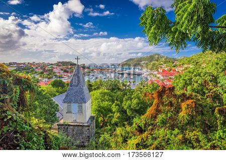 Saint Barthelemy Carribean view from behind