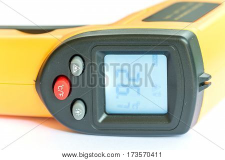 Non Contact Digital Thermometer Infra Red Yellow