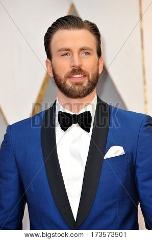 Chris Evans at the 89th Annual Academy Awards held at the Hollywood and Highland Center in Hollywood, USA on February 26, 2017.