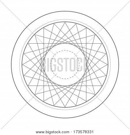 rotation triangle sacred geometry symbol. Design vector illustration