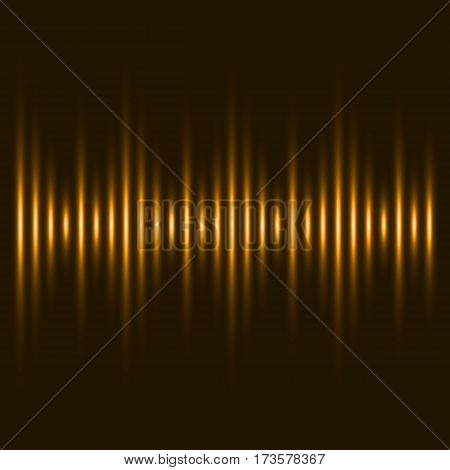 abstract orange equalizer. orange stripes. dark background. vector illustration