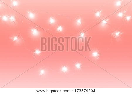 Abstract background blur lights decoration soft and sweet pink tone