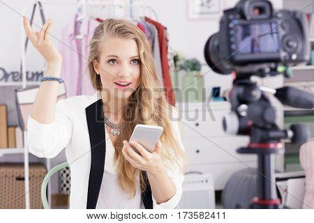 Teenager Recording Daily Vlog