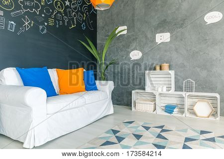Convenient Room With Colourful Pillows