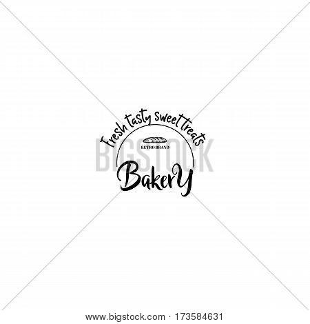 handmade Logo set for small businesses - sweet bakery.