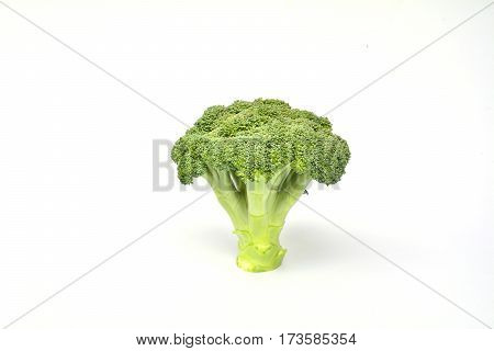 Fresh broccoli for healthy isolated on white background