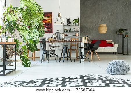Modern Apartment With Dining Table