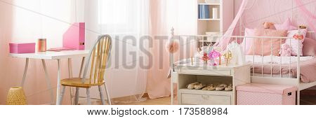 Desk And Bed