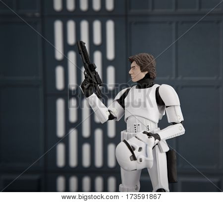 Star Wars Han Solo in Stormtrooper disguise aboard the Death Star - Hasbro 6 inch Black Series Action figures