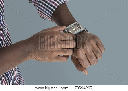 Human Hand Setting Watch Instrument of Time