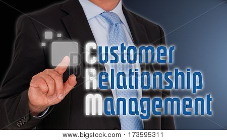CRM - Customer Relationship Management - Manager with touchscreen
