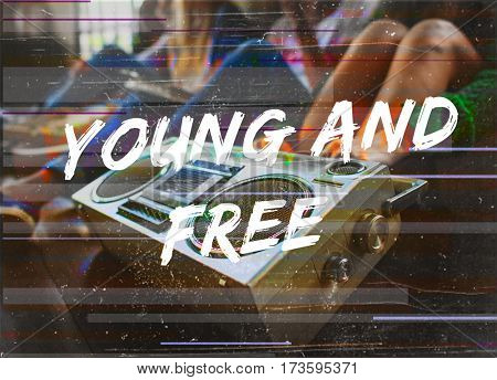 Young And Free People Concept