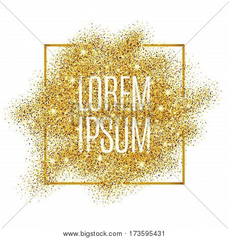 Gold background for flyer, poster, shopping, for sale sign discount. Marketing selling, banner, web header. Abstract golden background for text, type, quote. Gold blur background