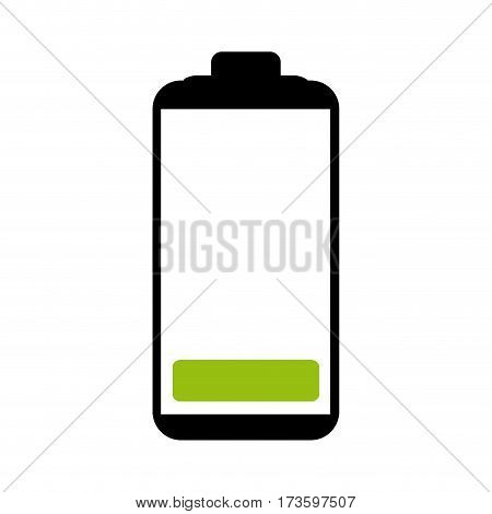 Battery symbol with level low energy charge vector illustration