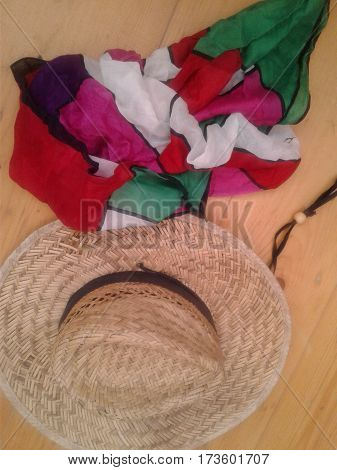 beach color decorative from function hair headgear hot means perform protect rain scalp scarf solar straw summer used wind woven