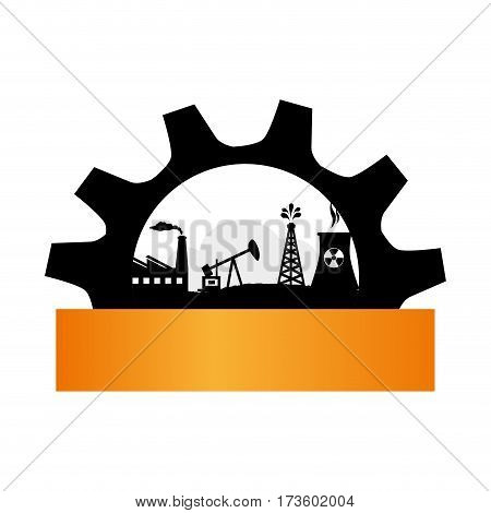 gear wheel, icon, border background silhouette oil extraction machine factory