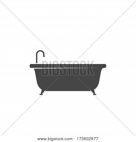 Bathtub icon isolated on white background. Bath time vector illustration