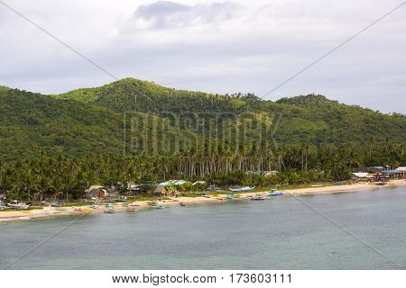 BUKANA, PHILIPPINES - FEB. 10: The life of the inhabitants of the Philippine fishing village FEB. 10, 2016 in Bucana Philippines.