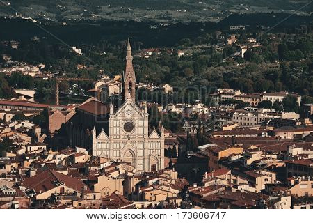 Basilica di Santa Croce is known as Temple of the Italian Glories and is the burial place for some of the most illustrious Italians.