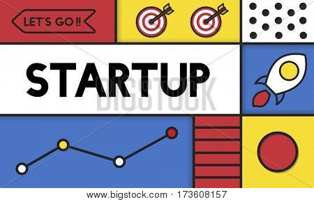 Business Line Graph Startup Icon