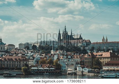 view of Prague on a sunny day Czech Republic