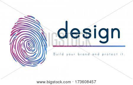 Design Logo Patent Fingerprint Concept