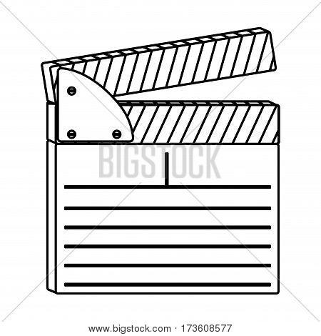 figure clapper board icon, vector illustraction design image