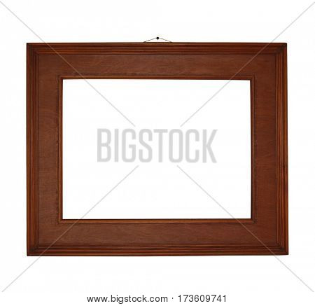 Wooden frame. Object isolated on white background
