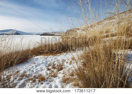 Olkhon Island. Winter Landscape, Lake Baikal