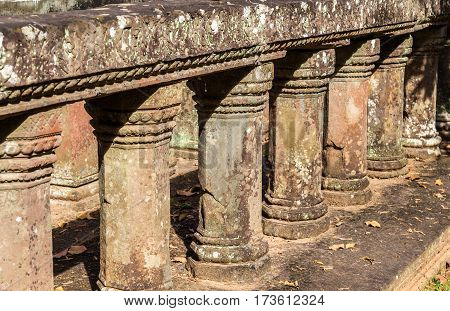 Details of Chau Say Tevoda temple at the Angkor complex in Cambodia