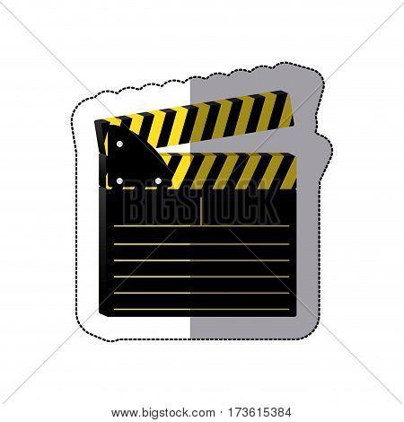 color clapper board icon, vector illustraction design image