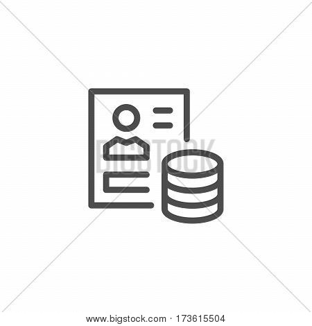 Recruitment line icon isolated on white. Vector illustration