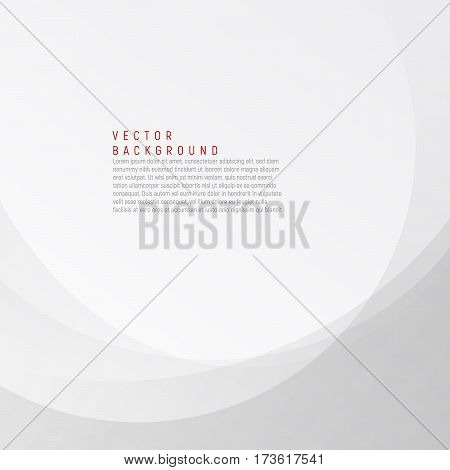White and grey elegant business background. Vector wave illustration. Silver light gradient abstract background