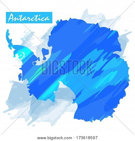 Isolated map of Antartica on a white background, Vector illustration