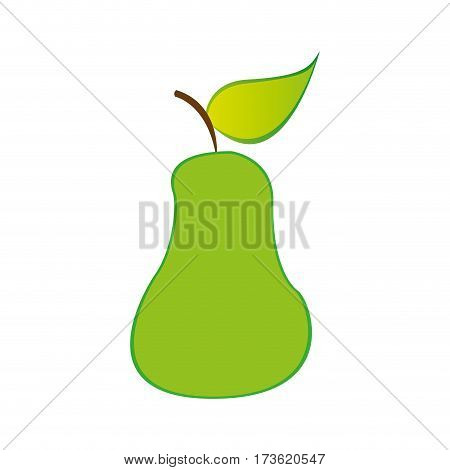 pear fruit icon stock, vector illustration design