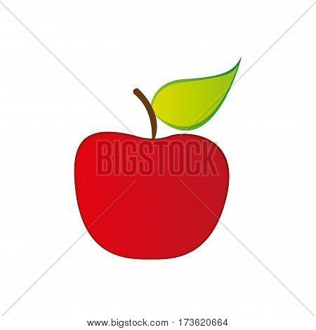 red apple fruit icon stock, vector illustration desing