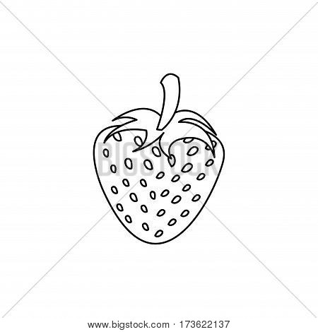 figure strawberry fruit icon stock, vector illustration design