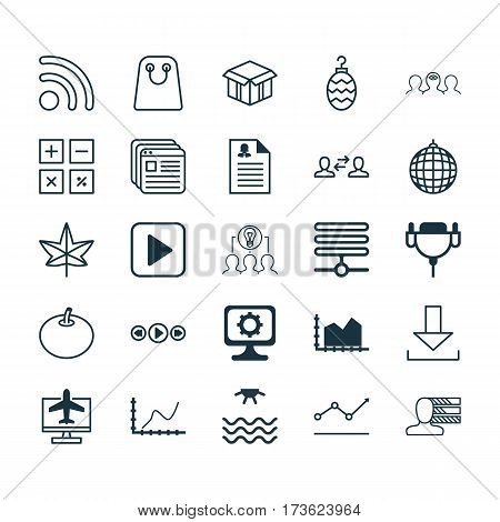 Set Of 25 Universal Editable Icons. Can Be Used For Web, Mobile And App Design. Includes Elements Such As Coaching, Sunrise, Information Base And More.