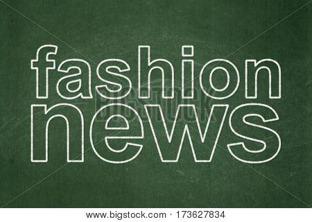News concept: text Fashion News on Green chalkboard background