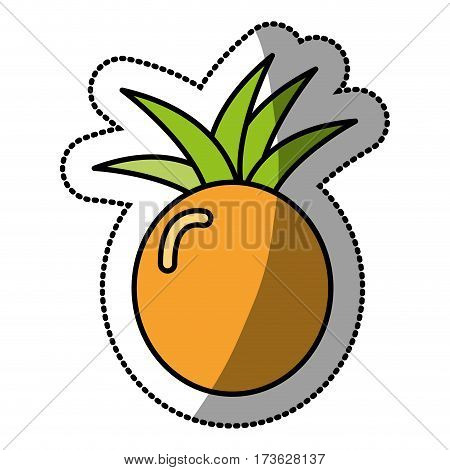 pineapple fruit icon stock, vector illustration design