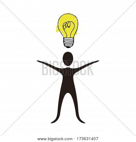 people with idea icon stock, vector illusration design image